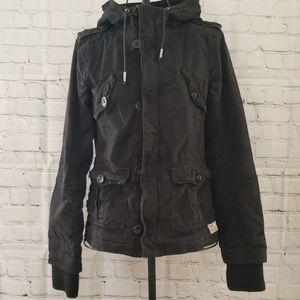 TNA Black Military Style Jacket Sz XS